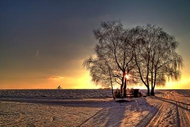 Winterabendsonne